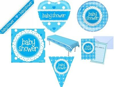 Blue Baby Boy Baby Shower Party Supplies Tableware Decorations Boy Partyware