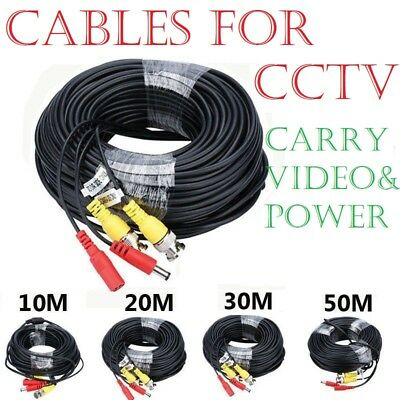 5M 10M 15M-50M BNC DC Power Video Lead CCTV Security Camera DVR Extension Cable