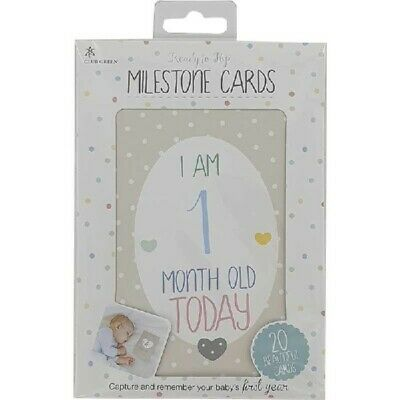 12 Baby Boy Girl  Memorable Moments Milestone Stickers New Baby Baby Shower Gift