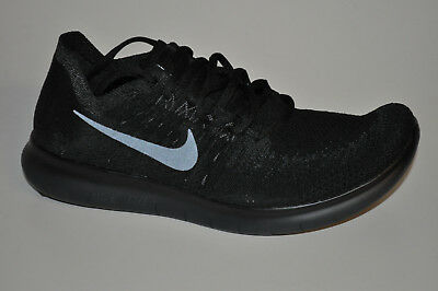 check out d425e 5950d NIKE Free RN Flyknit 2017 880843-010 Black Anthracite Schwarz Anthrazit