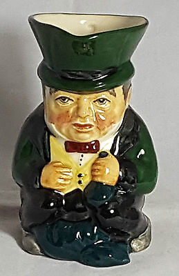 Beautiful Vintage Hand Painted Toby Jug by Roy Kirkham. Height: 13 cm