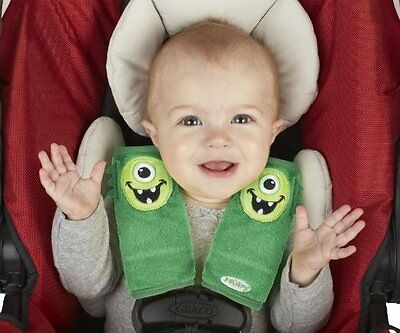 Nuby Strap Covers Monster Green Infant Car Seat Cover Baby