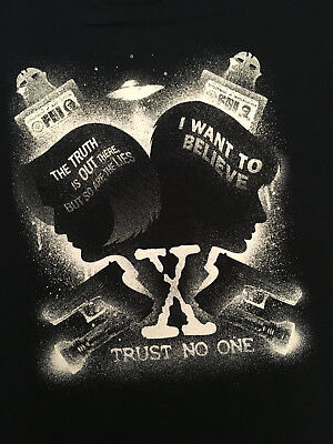 Teefury T-shirt -  Trust no one ( The X-Files, I Want to Believe, Supernatural )