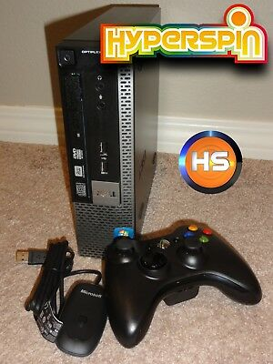 Hyperspin MAME ROMs PC System 25K+ GAMES Dell Optiplex with Xbox 360 Controller