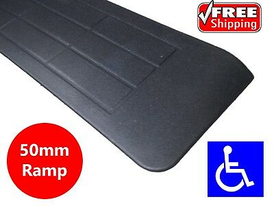 RUBBER THRESHOLD RAMP 50mm WHEELCHAIR ACCESS DISABILITY DOOR STEP WEDGE MAT