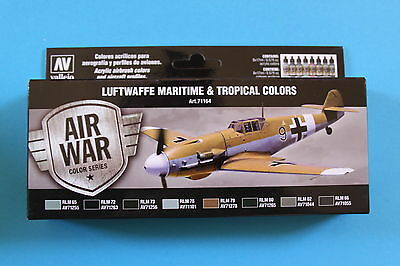 Vallejo Airbrush Model Air SetLuftwaffe Maritime and Tropical Colors (8)