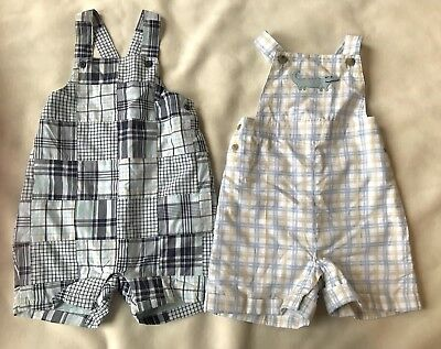 Janie And Jack Layette 2 Plaid Spring/summer One - pieces Jumpsuits 3-6 Months