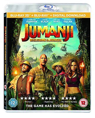 Jumanji Welcome to the Jungle 3D (Blu-ray 2D/3D) BRAND NEW!!