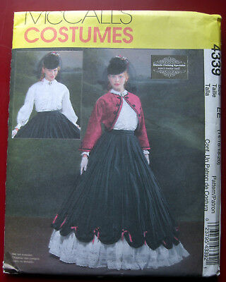 McCall's Schnittmuster 4339 Historic Clothing Bluse Bolero Rock Petticoat EE