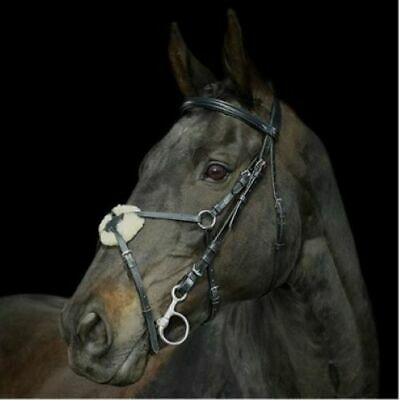 Padded Leather Mexican Grakle Bridle, Rubber Reins All Sizes Black Or Brown