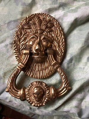 French Lion Door Knocker Late 1900's Made of Brass