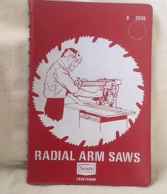Sears Craftsman  Radial Arm Saws Manual Set-Ups Operations Directions