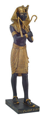 Ancient Egypt Pharaoh 48 Inch Tall Large King Tut Holding Crook & Flail Statue