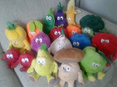 Co - Op Goodness Gang Fruit And Vegetables soft Plush toys  Choose Character