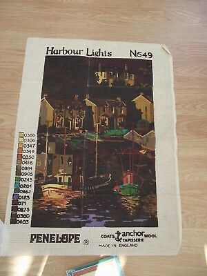 Penelope Needlepoint Canvas Harbour Lights  N549 Coats Anchor Vintage