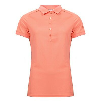 Cross Damen Polo Shirt Funktions Piqué Koralle Größe M