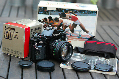 Canon A-1 35mm film SLR camera with Canon 50mm f/1.4 FD mount lens A1