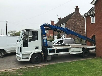 iveco beavertail recovery lorry crane hiab banger racing 7.5
