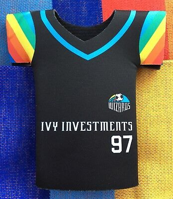 new product 2709e b39b4 SPORTING KANSAS CITY / Wizards ('97) Retro Night Rainbow Adidas Jersey  Koozie