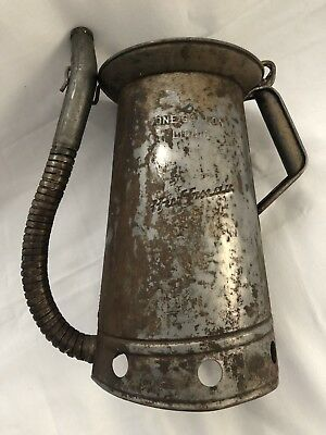 Vintage Gas Station Can HUFFMAN Folding Nozzle Gallon Water Can Oil Can