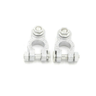 2Pcs/Set Zinc Coat Positive Negative Battery Terminals Clamp Connectors For CarO