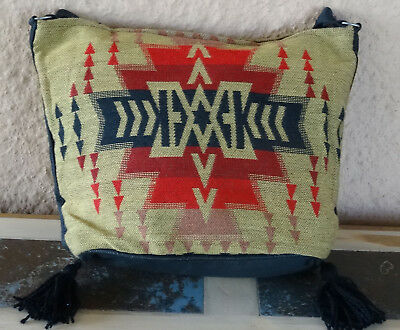 Jacquard Zipper Purse OPNEW-B Southwest Southwestern Design Bag