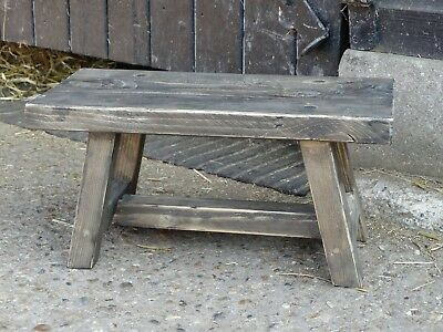 Small Rustic Farmhouse Step Stool - Farmhouse Stool - Milking Stool