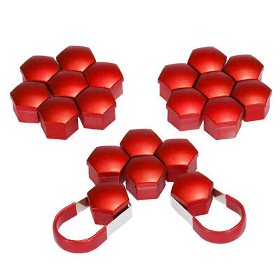 20pcs 17mm Car Plastic Caps Bolts Covers Nuts Alloy Wheel For Skoda, Audi, P0N8