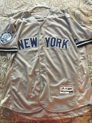 RARE Majestic MLB New York Yankees Derek Jeter CAPTAIN Sewn Jersey with 2  Patch e08c8d46eb5