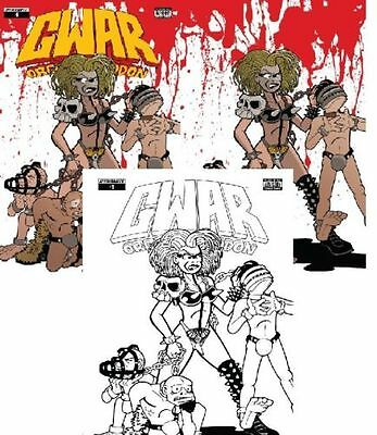 3x GWAR 1 JETPACK LARRYS Bob Gorman EXCLUSIVE VARIANT; VIRGIN B/W Dynamite HOT