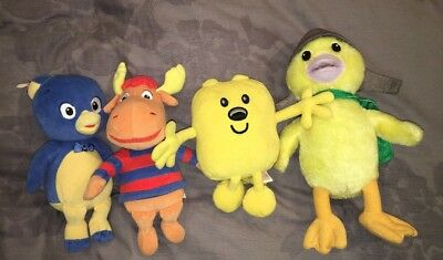 4 Nickelodeon Nick Jr. STUFFED ANIMALS, Wonderpets, Wowwow Wubzy, Backyardigans