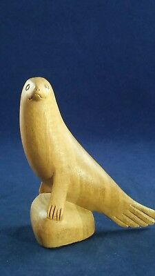 Sea Lion or Seal Wooden Artisan Hand Carved Carving Hibiscus Wood Figurine