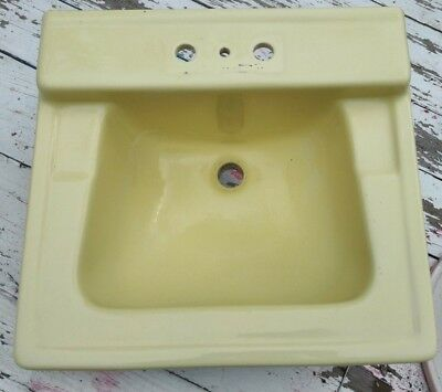 "Vintage ""standard"" Wall Mount Yellow Lavatory Sink"