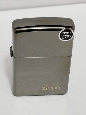 Zippo Windproof Black Ice Lighter With Zippo Logo, # 150ZL, New In Box