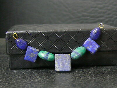 (cB766) Old  Egyptian Gemstone Lapislazuli Beads for necklace
