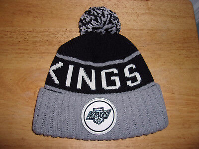 separation shoes 1b584 525b6 NHL Los Angeles Kings Mitchell   Ness Beanie Pom Cap Hat Free Shipping!