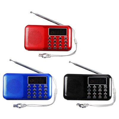 Mini Portable LED Digital FM Radio Speaker USB Micro SD TF Card MP3 Music P B6N3