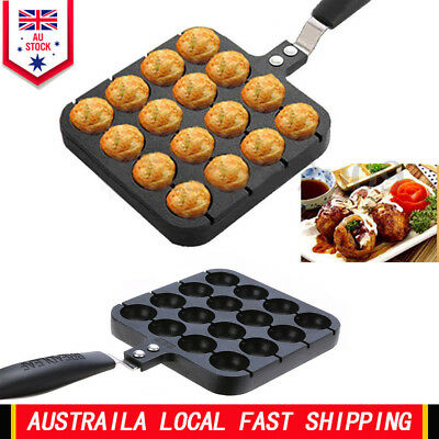 16 Holes Takoyaki Grill Pan Octopus Ball Plate Home Cooking Baking Tools Kitchen