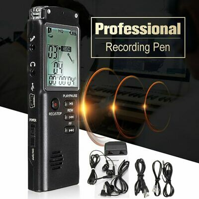 Voice Activated Mini Spy Digital Sound Audio Recorder Dictaphone MP3 Player 32G