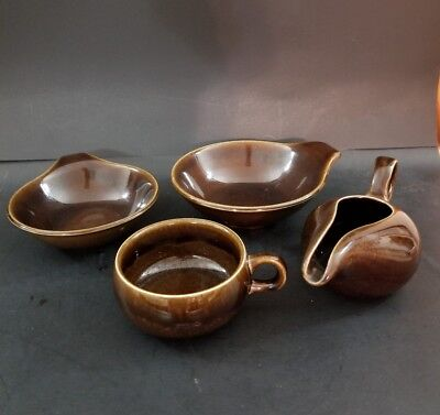 Mixed Lot RUSSEL WRIGHT American Modern dinnerware by Steubenville - Bean Brown & MIXED LOT: RUSSEL WRIGHT American Modern dinnerware by Steubenville ...