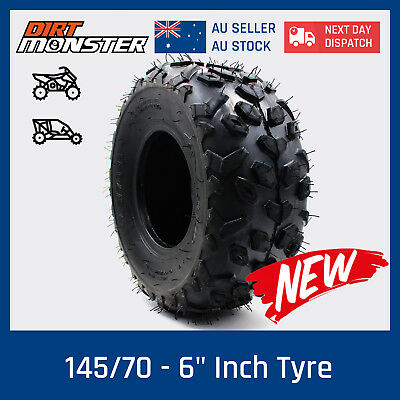 "4PLY 145/70 - 6"" inch Front Rear Tyre Tire 50cc 70cc 110cc Quad Bike ATV Buggy"
