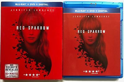 Red Sparrow Blu Ray Dvd 2 Disc Set + Slipcover Sleeve Free World Wide Shipping