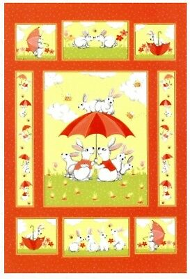 Susybee Beatrice Bunny Quilt Panel * New * So Cute * Free Post *