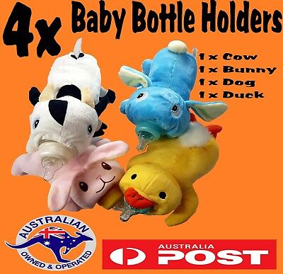 Cute Soft Baby Infant Bottle Animal Plush Warmer Feeding Insulation Bag Cover Co