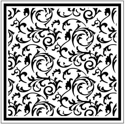* PORTA CRAFT * Embossing Folders Square (140*140mm) Scrollworks