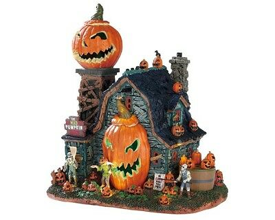 LEMAX THE MAD PUMPKIN PATCH Halloween Spookytown Spooky Town Modellbau Spieluhr