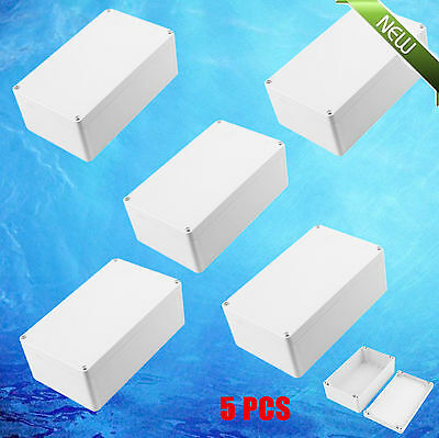 5XUniversal Waterproo Plastic Project Switch Box Protector Cover 200x120x75mm OP