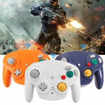 2.4G Wireless Game Controller Gamepad + Receiver For Nintendo Gamecube NGC Wii