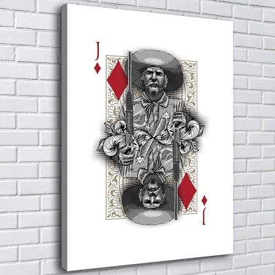 Poker Diamond Jack Home Decor Room HD Canvas Print Picture Wall Art Painting