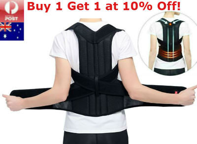 Posture Corrector Lumbar Lower Back Shoulder Support Brace Strap Pain Relief
